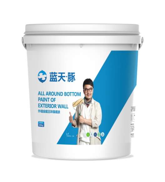 Eco friendly colored or transparent exterior wall bottom coating